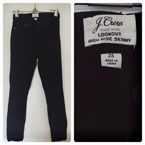 J.Crew Lookout High Rise Skinny Black Size 25